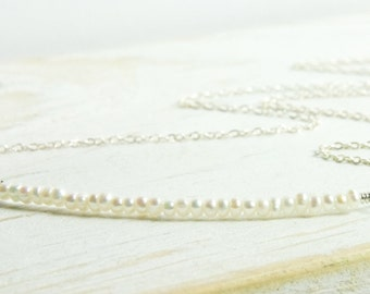 Bridesmaids Everyday Simple Necklace, Simple Everyday Jewelry, Simple Everyday Dainty Pearl Necklace, Thank you Bridesmaid Gifts