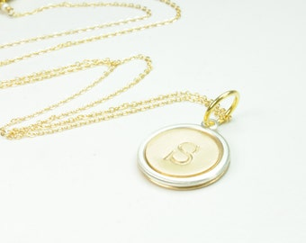 Single Initial Monogram Necklace, Bridesmaid Gifts, Mothers Day Gift Ideas, Graduation Gift Ideas