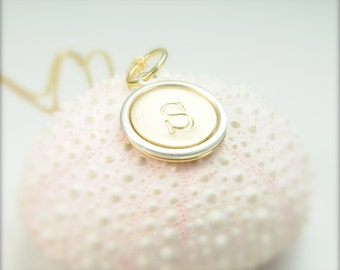 Single Initial Monogram Necklace, Initial Necklace, Gifts for Her, Matron of Honor, Bridesmaid Gifts