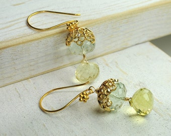 Mint Green Bridal Earrings/ Bridesmaid Gift Ideas/Mint Green Statement Earring