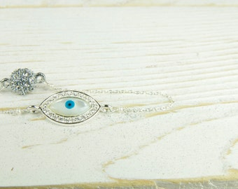 Dainty Evil Eye Bracelet,  Evil Eye Jewelry, Bracelet, Gifts Ideas, Holiday Gift Ideas