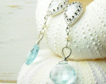 Blue Bridal Earrings on Etsy:) Couture Bridal Earrings