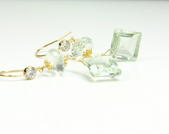 Beautiful Mint Green Amethyst Wrapped in Gold:) On Etsy