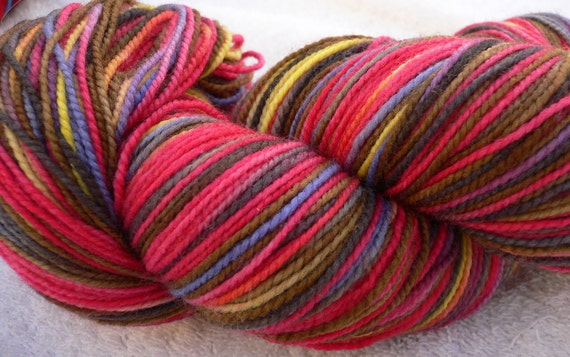 Alice,Inspired by Twilight, Handpainted Deuces Wild Sock Yarn