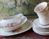 Twelve Piece Mix And Match Shabby Dinnerware Set By Knowles China Co