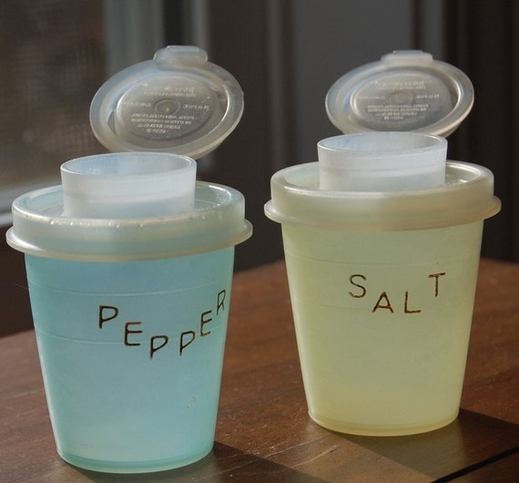 Vintage Tupperware Salt and Pepper Shakers