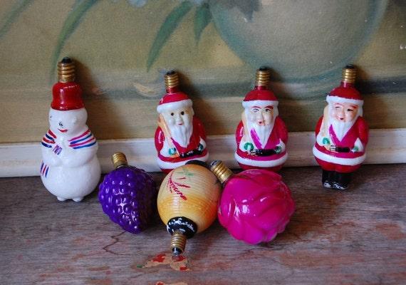 Early Vintage Milk Glass Christmas Bulbs Set Of Seven