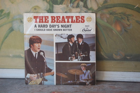 The Beatles 45 Record Original 1964 A Hard Day's Night