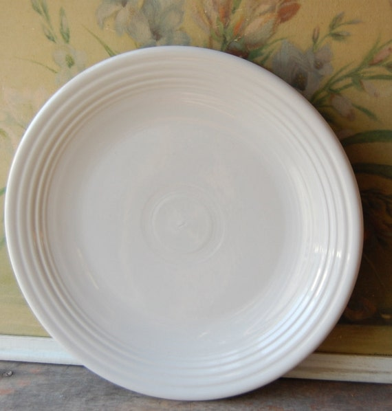 Set Of Four Homer Lauglin Fiestaware 12 Inch White Chargers