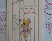 Vintage Pink Sunshine Heard You Were Feeling Better Card