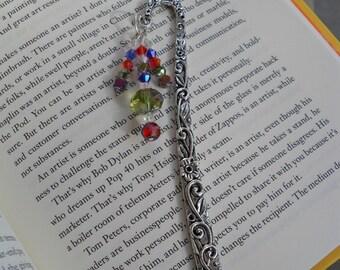 Silver Crystal Beaded Bookmark