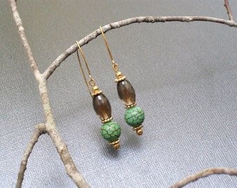 Barrel and Ball Earrings