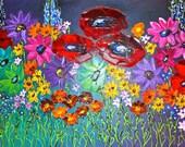 Springtime  an original floral painting