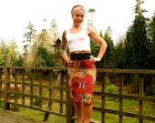 African Print High Waist Pencil Skirt