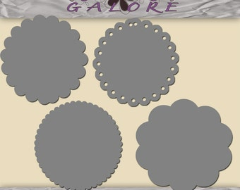 Circles - Set of 4 For Use in Photoshop and Photoshop Elements - Commercial and Personal Use - Digital Designs Galore
