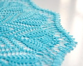 Doily // Hand Crocheted // Turquoise // Gift for the home // home decor //tabletop decor // centerpiece // heirloom quality