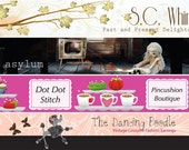 Etsy Shop Banner and Avatar Custom