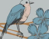 RESERVED Blue Bird Etsy Shop Banner and Avatar Premade