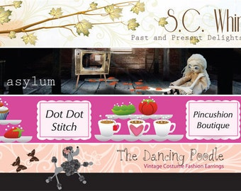 Custom Etsy Cover Photo Shop Icon and Avatar Shop Banner