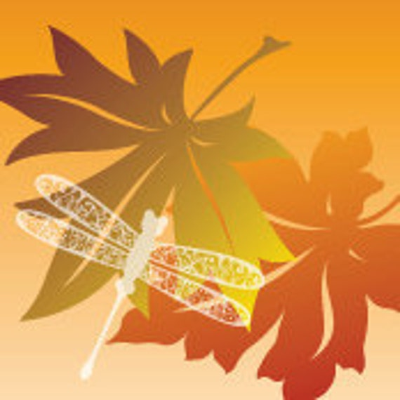 Etsy Shop Banner Fall Autumn Leaves