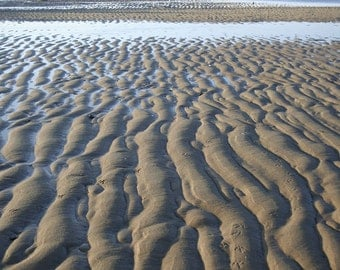 Ripples in the sand  Metallic Standout Gallery Print 11 x 14