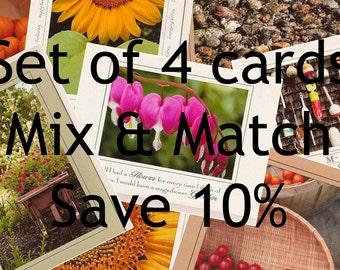 Set of 4 photo cards - Mix & Match - Save 10% percent