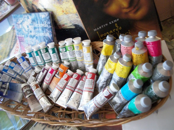 OIL PAINT Brand New 37ml Tube Art Studio Painting Pigment Color Red Blue Green Yellow Orange Black White Beginner Professional Choice 1 Tube
