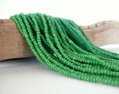 13/0 Charlotte True Cut Seed Bead Full Hank (Green)