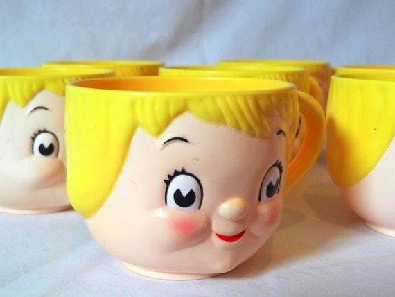 Vintage 1970's Set of 7 Campbell's Soup Children's Cups