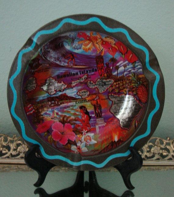 Vintage Hawaiian ashtray/bowl- Ken Haag art