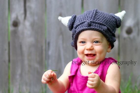 Baby Viking Hat 0-6 mo