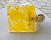 ARTLIGHT Night Light - Sunshine Yellow fused glass