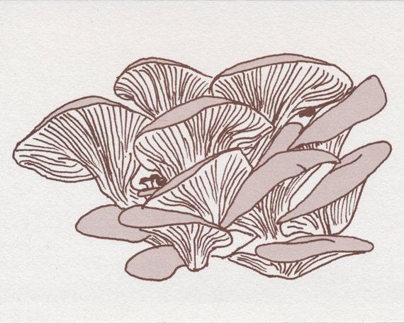 Note Card Oyster Mushroom