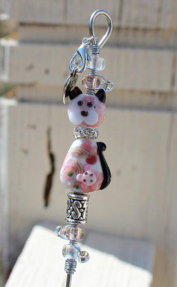 Cat Cake Tester Lampwork Beads