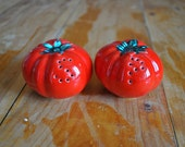 Vintage Tomato Salt & Pepper Shakers