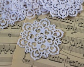 White Cardstock Doilies. Set of 10
