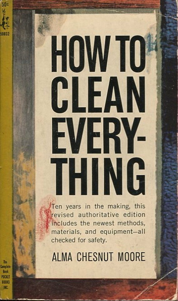 How To Clean Everything Vintage Paperback