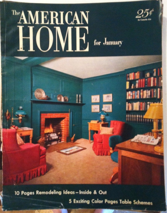 The American Home for January 1952 Vintage Magazine