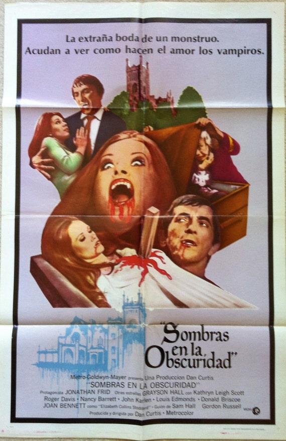 House of Dark Shadows ORIGINAL Vintage Spanish Movie Poster