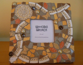 Retro China Mosaic Picture  Frame Fall
