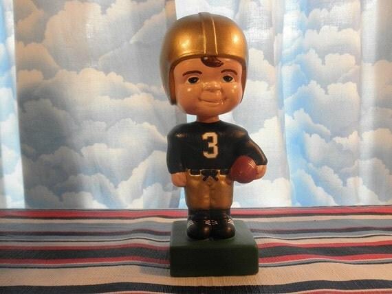 Notre Dame Fighting Irish Ceramic Bobblehead Football Statue