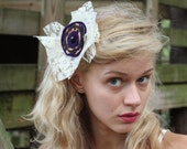 Dainty Lace and Purple/Leopard Felt Headband