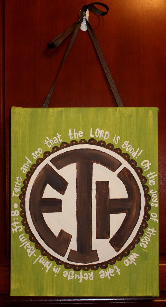 16x20-inch Customized Monogram Painting - GREAT Baby Gift