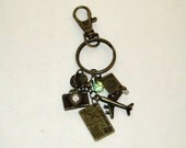 Travel Key Chain Travel Key Ring World Traveler Purse Charm Travel Bag Charm Keychain