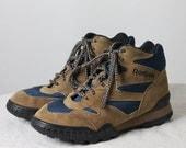 Vintage Reebok Hiking Boots -- Brown, Blue, Teal, Purple
