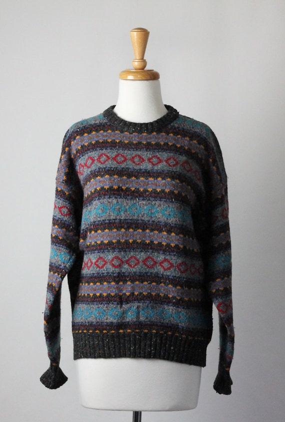 Sweater --- Southwestern Horizontal Stripe --- Medium