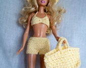 Crocheted Beach Outfit For Fashion Dolls like Barbie