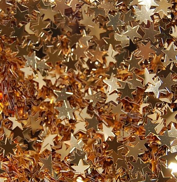 Gold Stars Glitter Large - 1 Fluid Ounce