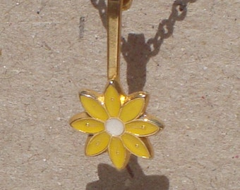 Sunny Yellow Flower Necklace
