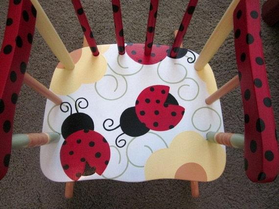 Children S Ladybug Rocking Chair